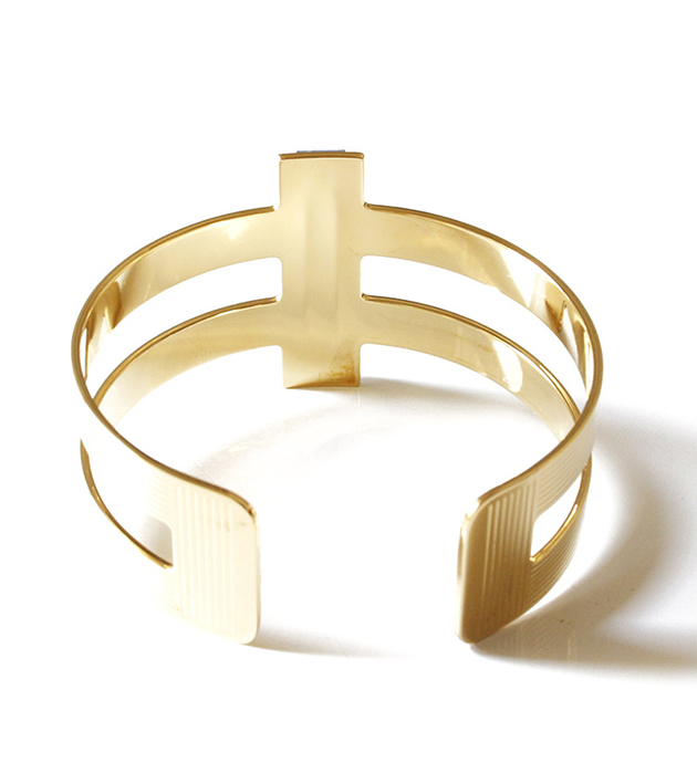 купите браслет-манжет Byzance Vert золотистого цвета от Chic Alors Paris