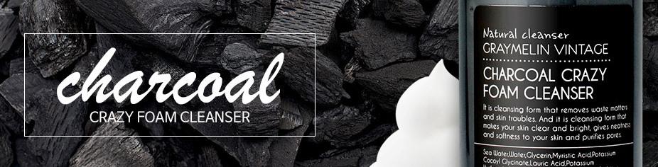 Очищающая пенка для умывания с древесным углем и белой глиной Graymelin Charcoal Crazy