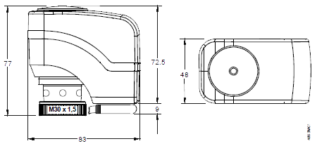 Размеры привода Siemens SSP31