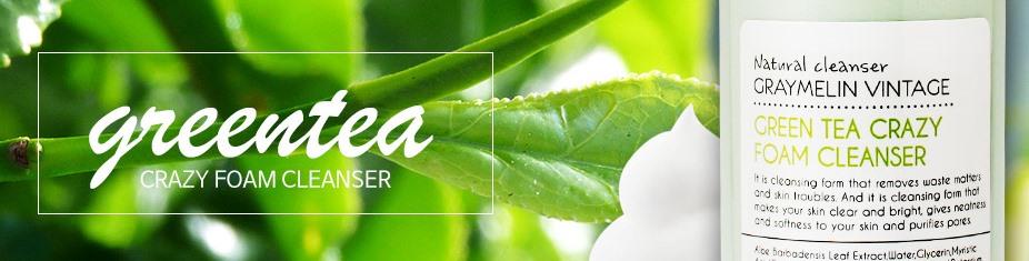 Очищающая пенка для умывания с экстрактом зеленого чая Graymelin Green Tea Crazy