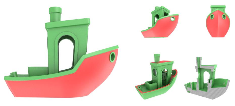 тест для 3д принтера - корабль