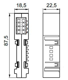 Размеры коннектора Siemens RMZ780