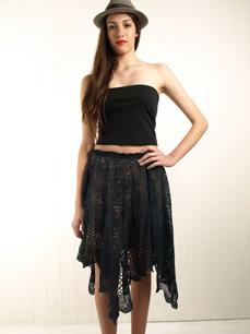 кружево черная юбка как сшить
