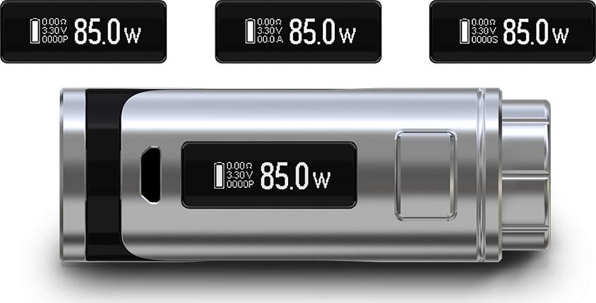 iStick Pico 25 оснащен большим 0.91-дюймовым экраном
