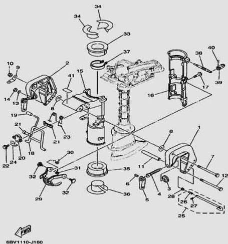 Запчастикронштейна для лодочного мотора F5 Sea-PRO
