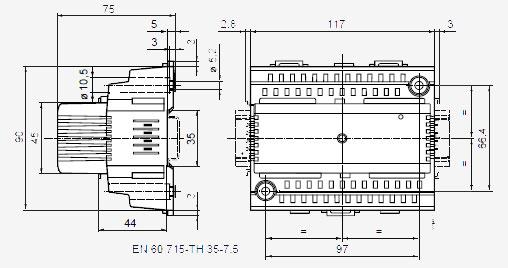 Размеры модуля Siemens RMZ783B