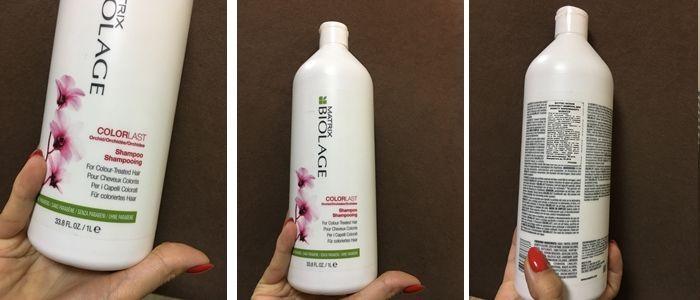 Фотообзор на шампунь для защиты окрашенных волос Matrix