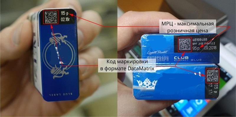 маркировка сигарет наглядно