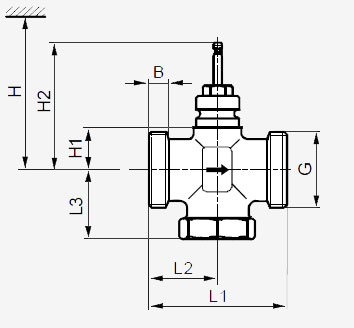 Размеры клапана Siemens VXG41.20