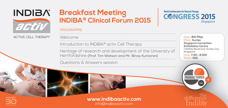 INDIBA activ на конгрессе по физиотерапии