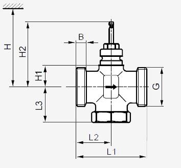 Размеры клапана Siemens VXG41.32