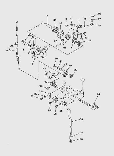 Механизм управлениялодочного мотора SEA_PRO T15 и OTH 9,9