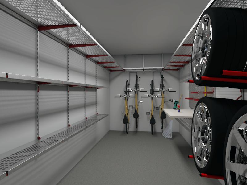 Оборудование гаража системой хранения