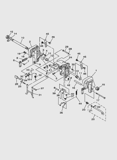 Кронштейн 1 длялодочного мотора SEA_PRO T15 и OTH 9,9