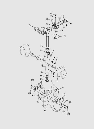 Кронштейн 2 длялодочного мотора SEA_PRO T15 и OTH 9,9