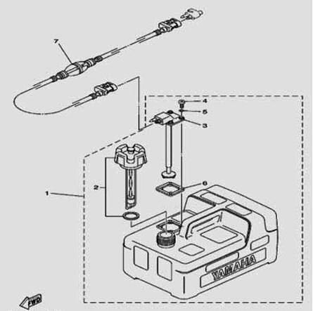 Внешний топливный бак для лодочного мотора F5 Sea-PRO