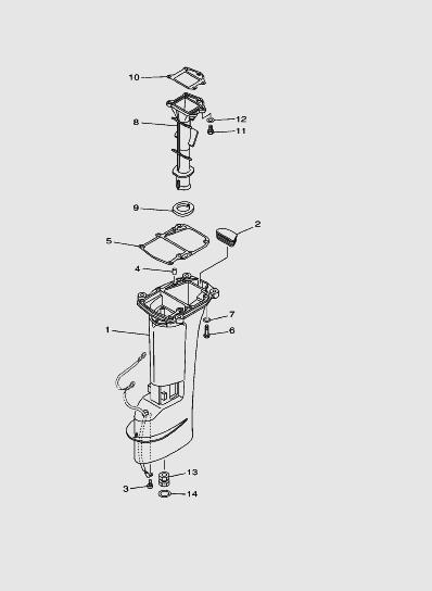 Дейдвудлодочного мотора SEA_PRO T15 и OTH 9,9