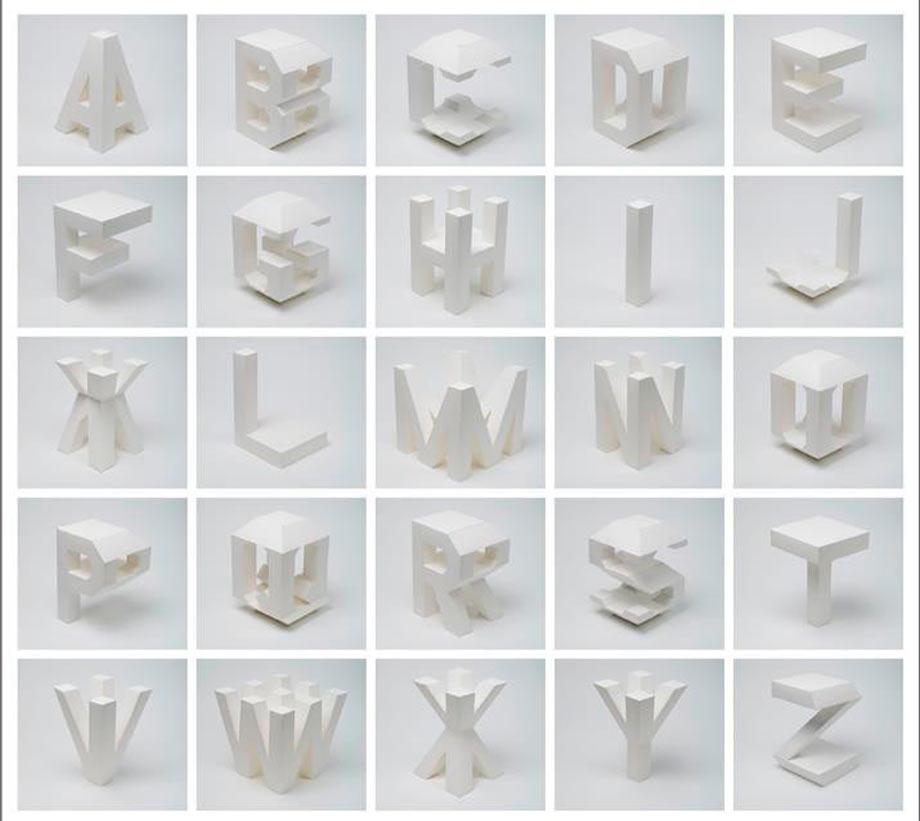 Буквы из пенопласта.