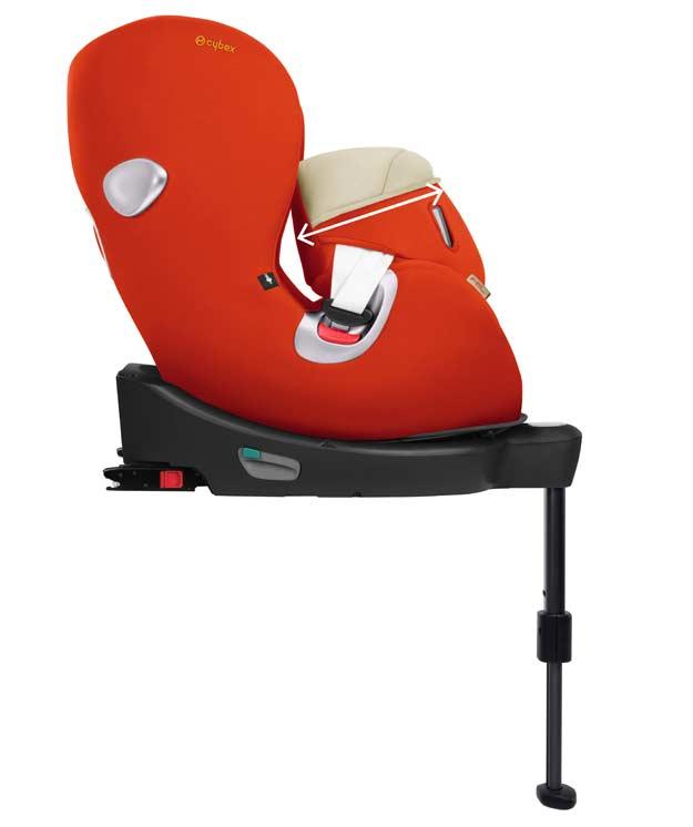 Альтернатива – езда в положении по направлению движения с 16 месяцев, 76 см – 105 см, приблизительно 4-летний возраст - Система фиксации для смены положения сидения