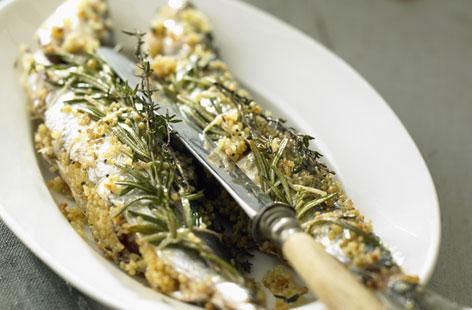 Рецепт жаренных сардин с маслом арганы