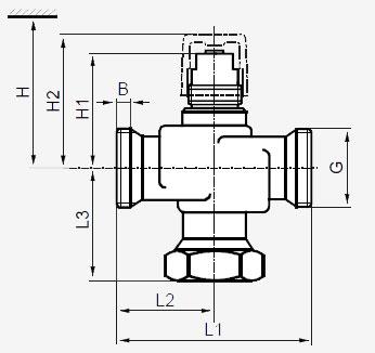 Размеры клапана Siemens VXG44.40-25