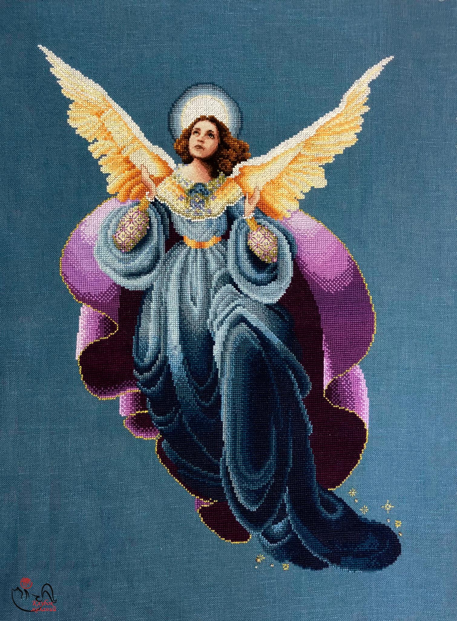 Отшив по набору для вышивания Утренний ангел. Арт. 8011