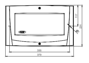Размеры модуля Schneider Electric MCOX-OB