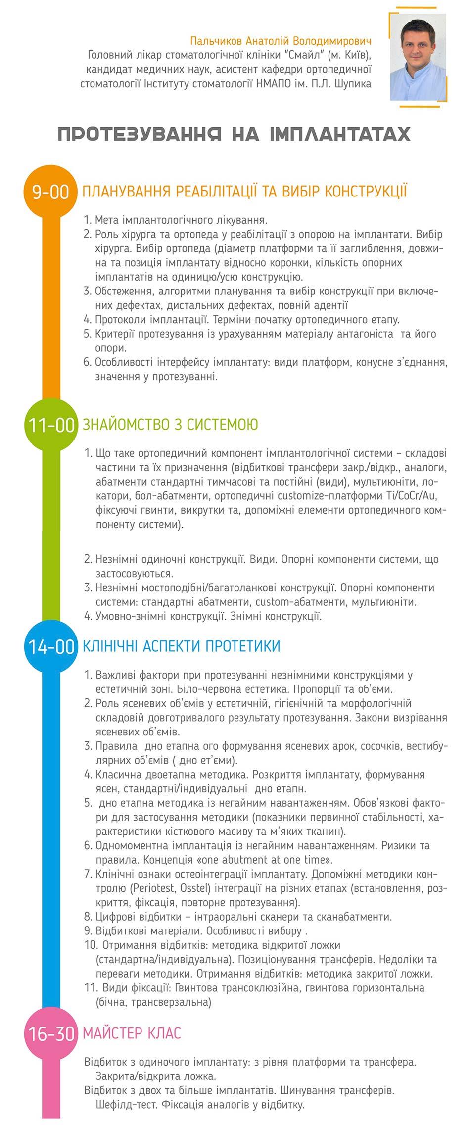 Протезирование на имплантах семинар. г. Полтава