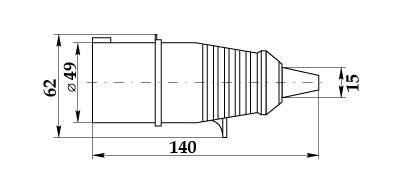 Вилка ССИ-014 габарит размеры