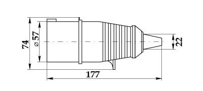 Вилка силовая ССИ-024 габарит размеры