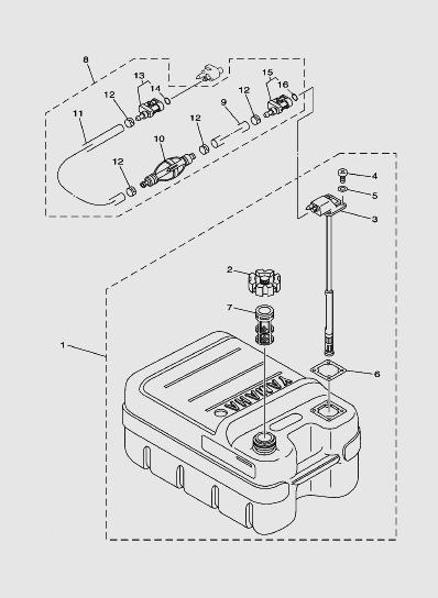 Топливный баклодочного мотора SEA_PRO T15 и OTH 9,9