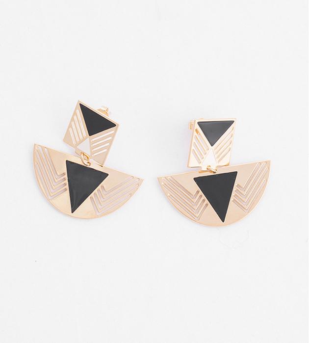 купите серьги с эмалью Fellini в стиле арт-деко от Chic Alors-Paris