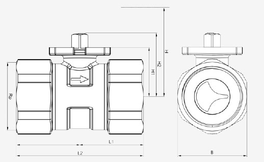 Размеры клапана Siemens VAI61.20-4