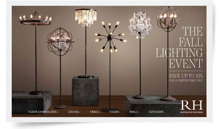 High quality replicas and copies of RESTORATION HARDWARE style lighting on .replica-lights.com & High quality replicas and copies of RESTORATION HARDWARE lighting