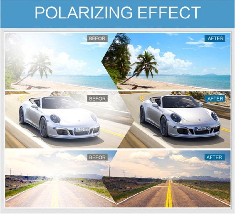 Эффект линз с поляризацией