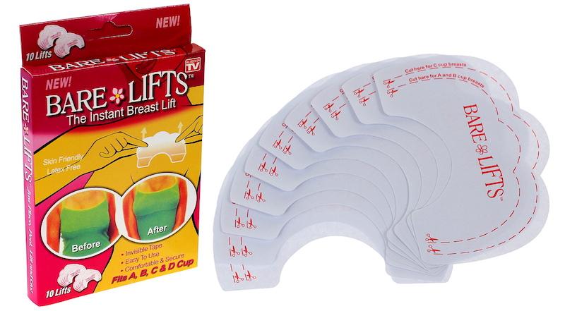 Как увеличить грудь без операции – силиконовые наклейки для поднятия бюста Bare Lifts