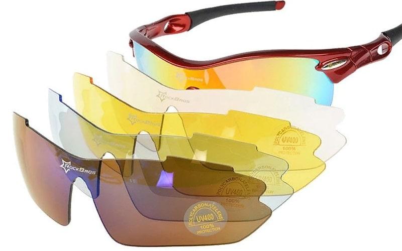 Велосипедные очки со сменными линзами