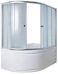 Раздвижная шторка для асимметричной ванны 1Марка