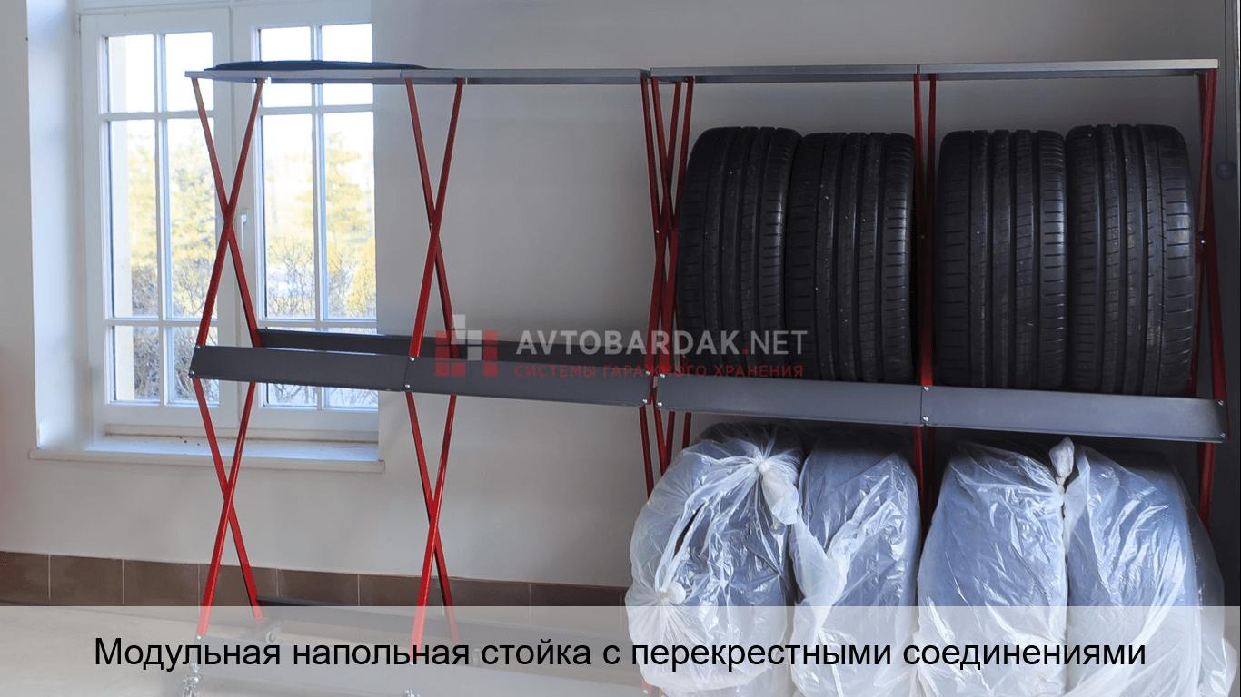 Модульная напольная стойка для шин