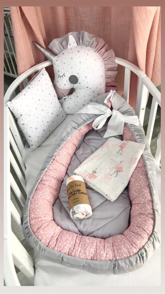 Гнездо кокон в кроватку новорожденному