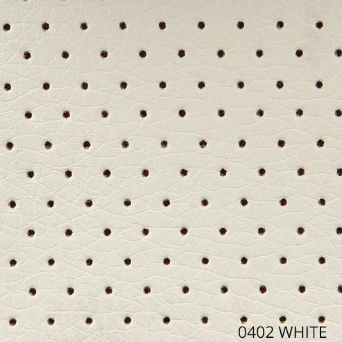 перфорированная экокожа - белый цвет