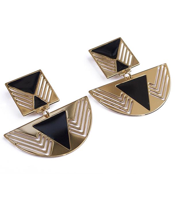 купите серьги золотого цвета Fellini с эмалью от Chic Alors-Paris