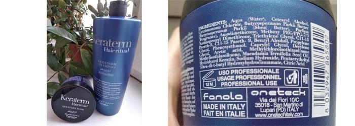 Фотообзор на маску для волос Fanola Keraterm