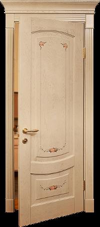 дверь в стиле прованс c росписью