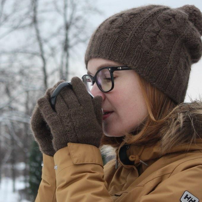 Шапка и перчатки из пуха яка SARLAG