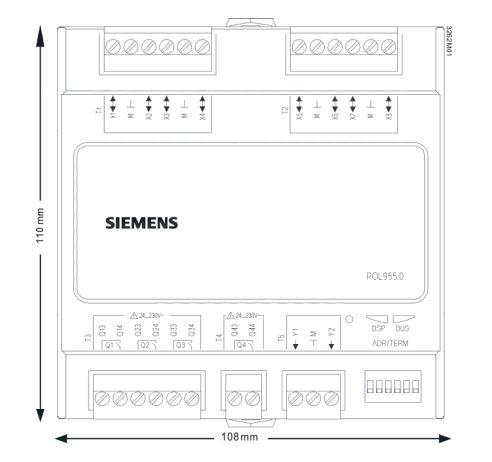 Размеры Siemens POL955.00/STD