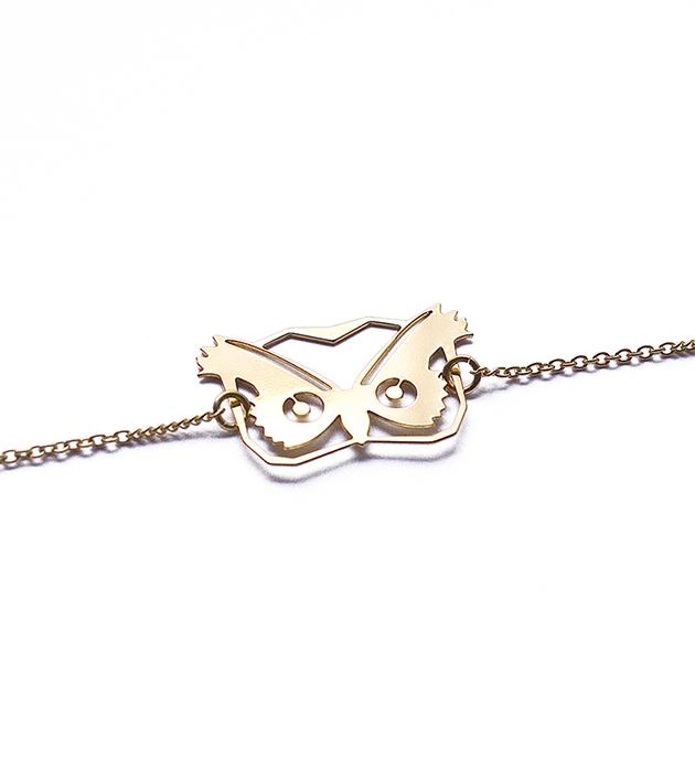купите тонкий браслет с подвеской-совой от Chic Alors-Paris