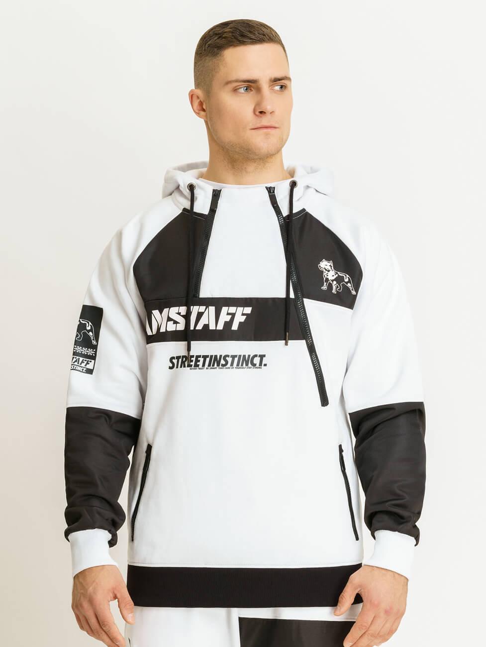 Купить черно белый спортивный костюм мужской оптом и в розницу с доставкой в Россию