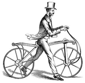 Первый беговел в 1817 году