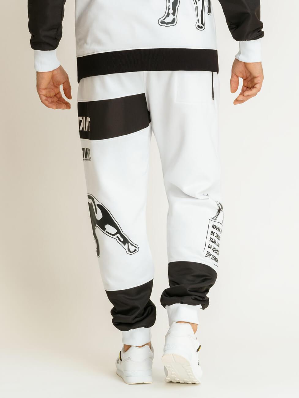 Спортивный костюм черный с белыми полосками